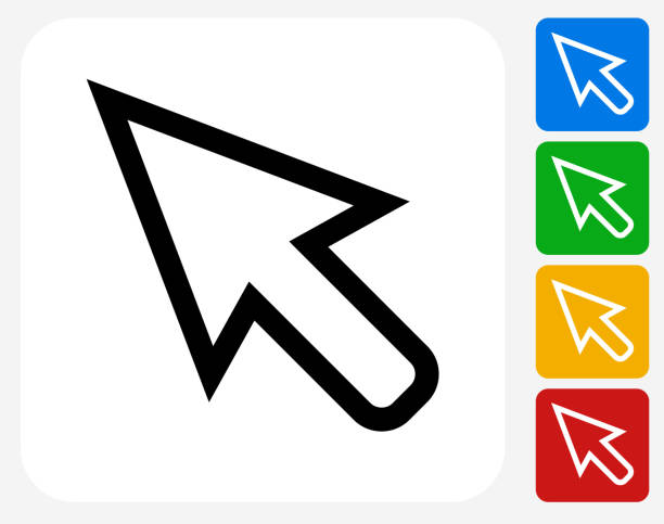 cursor icon flat graphic design - 游標 幅插畫檔、美工圖案、卡通及圖標