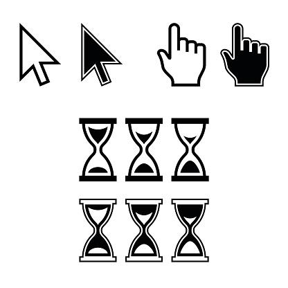 Cursor Icons. Mouse Pointer Set. Vector
