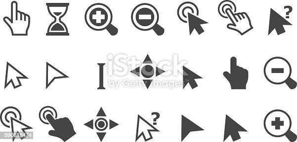 vector illustration of Cursor pointer icons