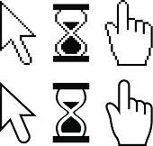 Cursor Set - arrow, hand, hourglass