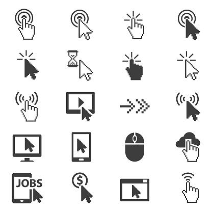 Cursors icon set