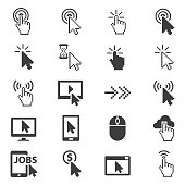 Cursors icon set