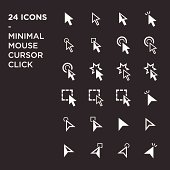 cursors icons: mouse hand arrow