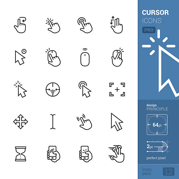 cursors related vector icons - pro pack - 電腦滑鼠 幅插畫檔、美工圖案、卡通及圖標