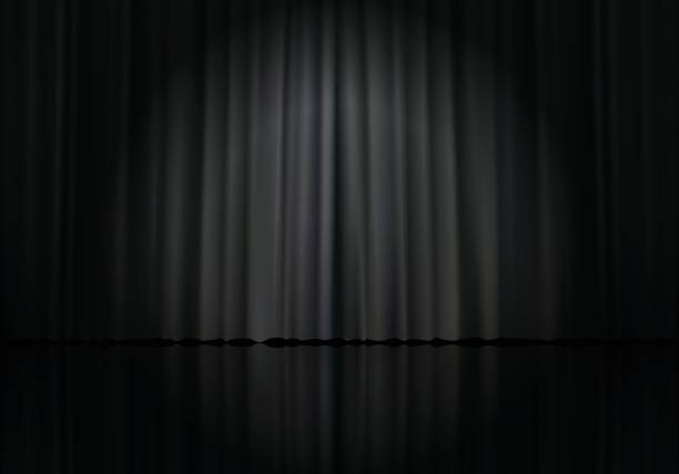 curtain 23 - comedian stock illustrations
