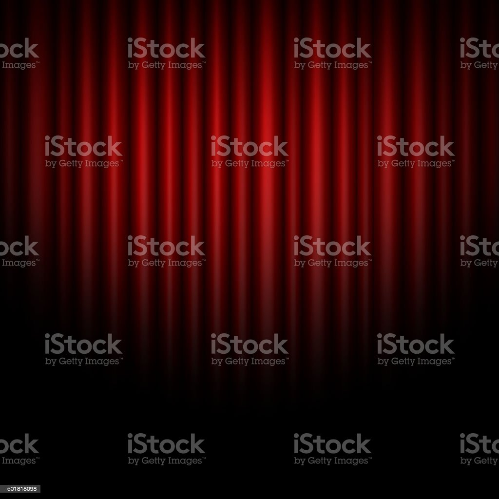 Curtain abstract of red background vector art illustration