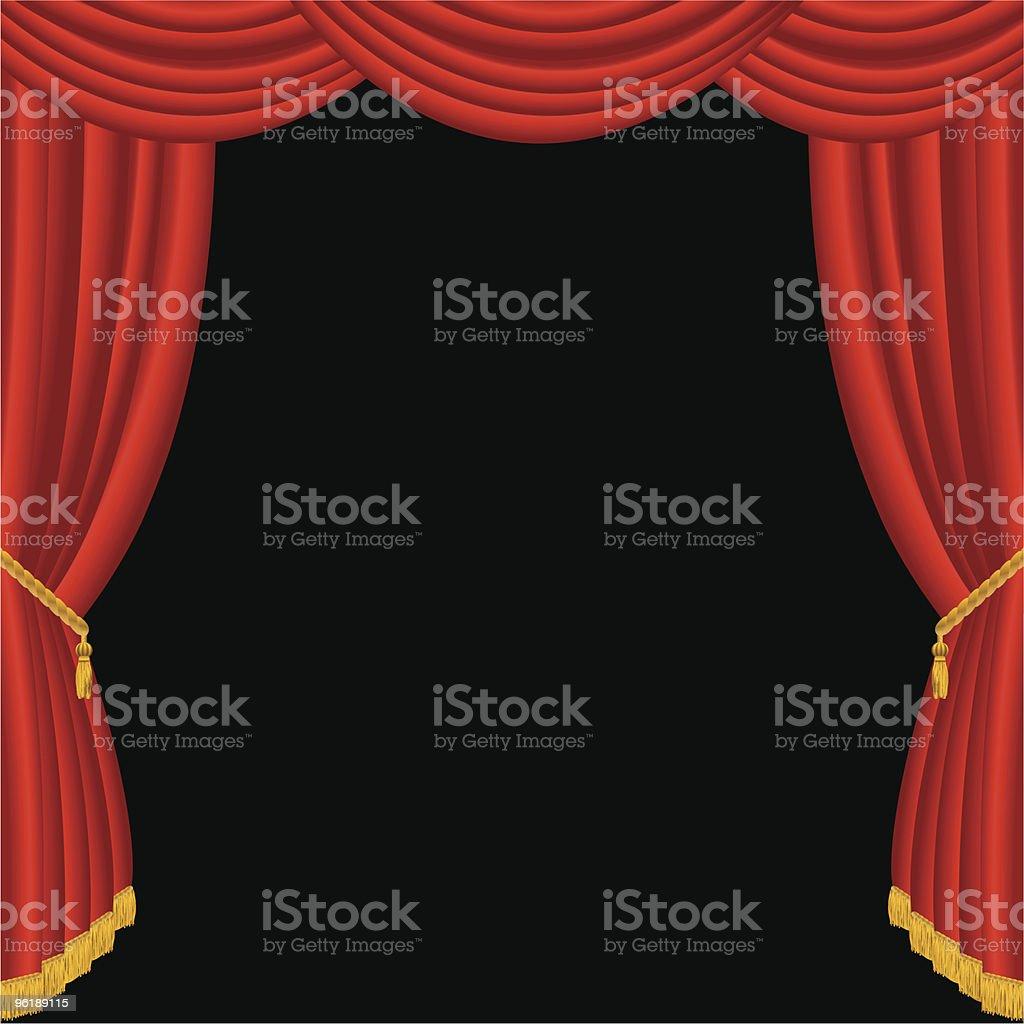 curtain fringe royalty-free stock vector art