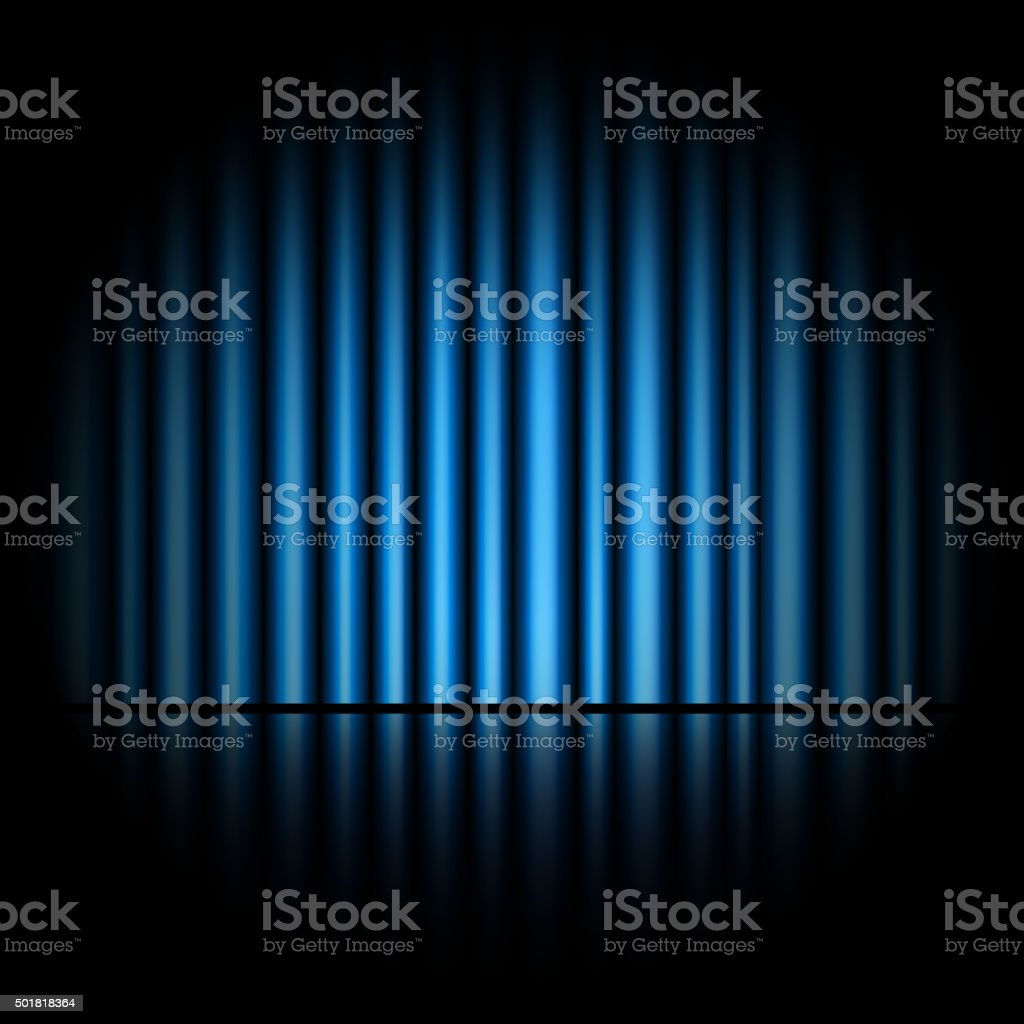 Curtain of blue background vector art illustration