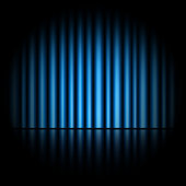 Curtain of blue background