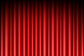 Curtain of red background