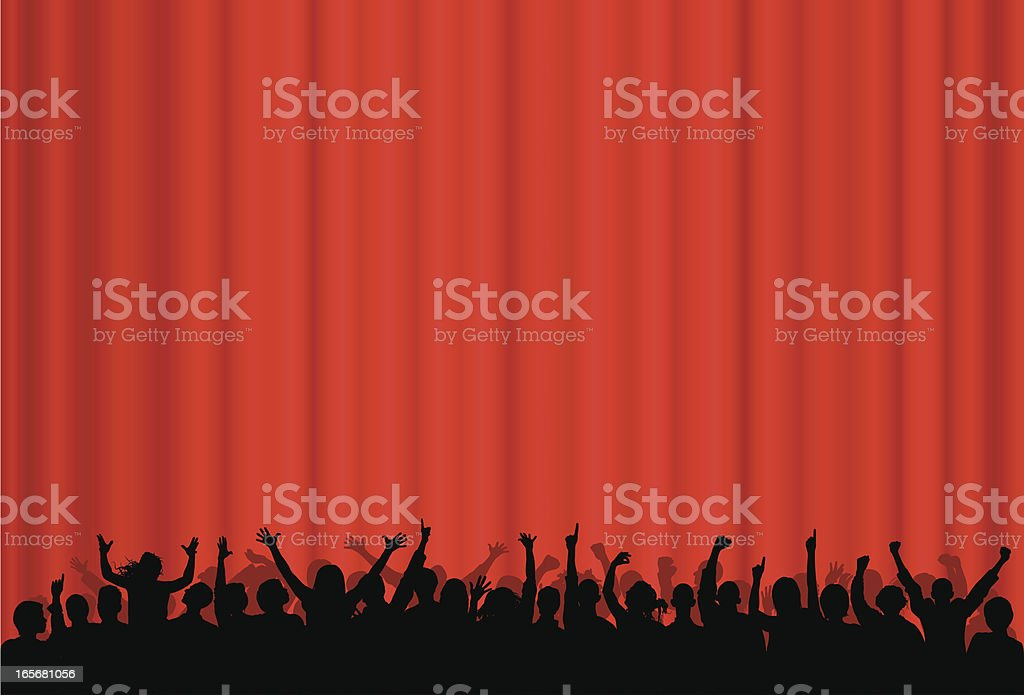 Curtain (39 People Complete Down to the Waste) royalty-free stock vector art