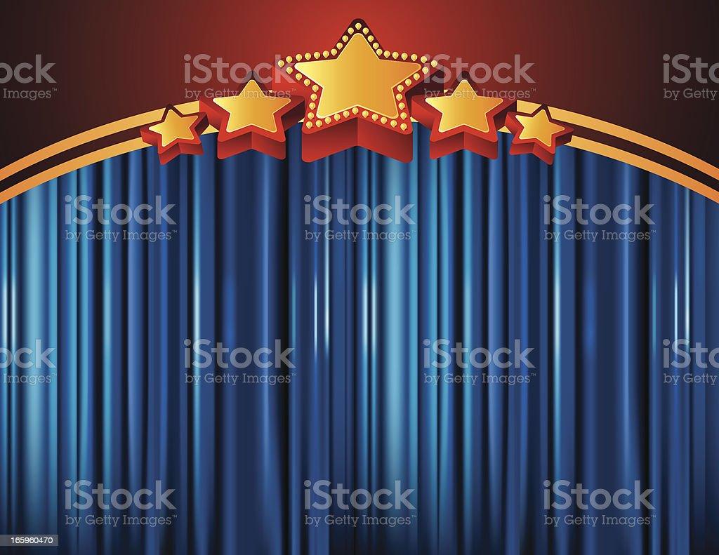 Curtain royalty-free stock vector art