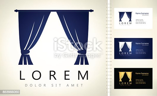 Curtains design vector