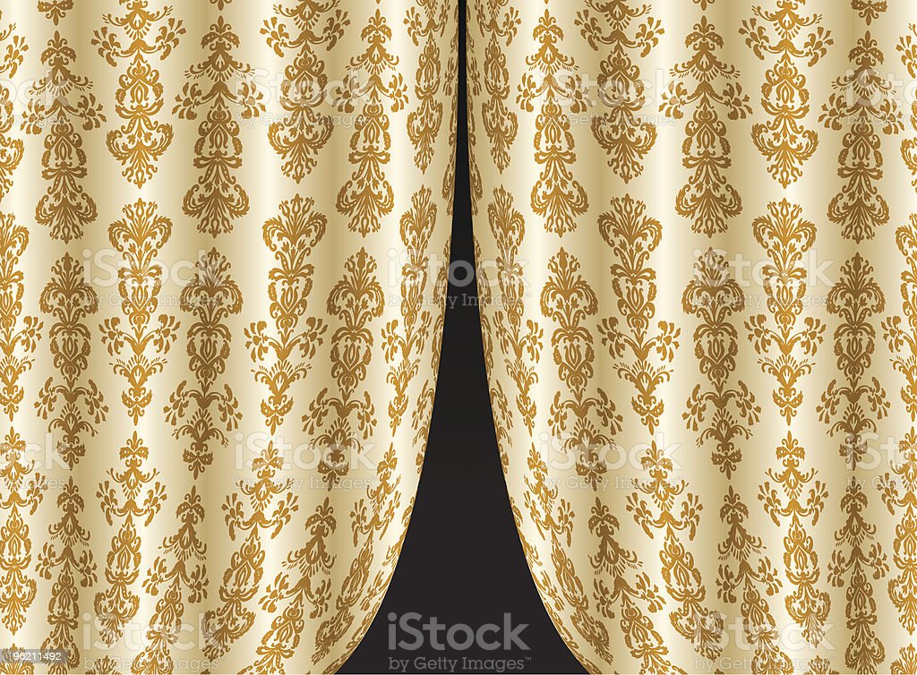 Curtains royalty-free stock vector art