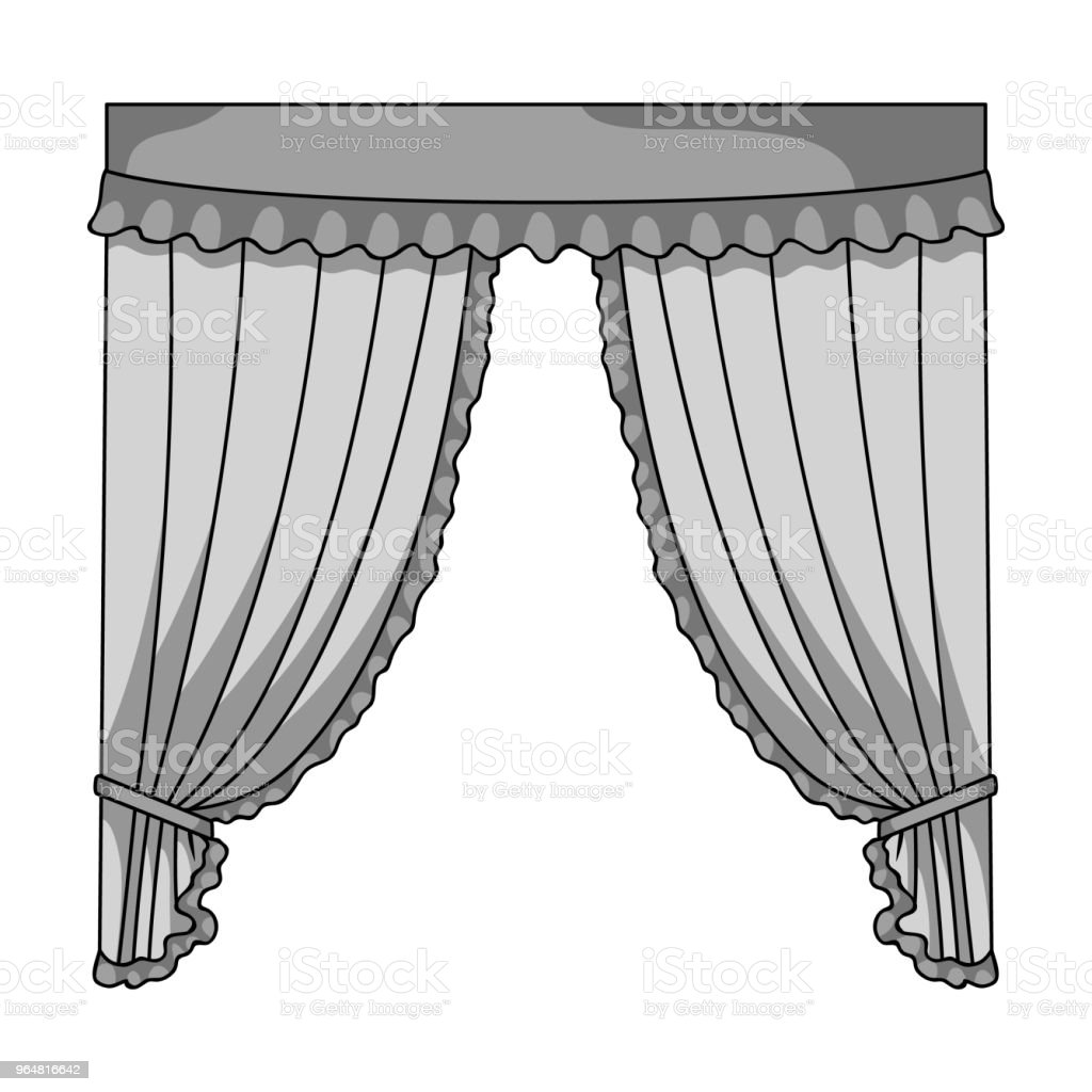 Curtains with drapery on the cornice.Curtains single icon in monochrome style vector symbol stock illustration web. royalty-free curtains with drapery on the cornicecurtains single icon in monochrome style vector symbol stock illustration web stock vector art & more images of curtain