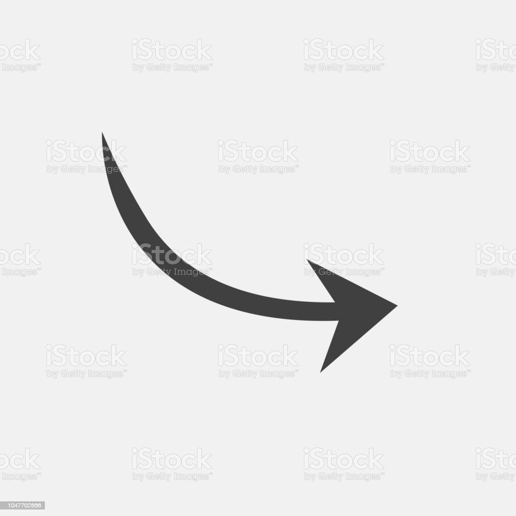 Flecha Curva Vector