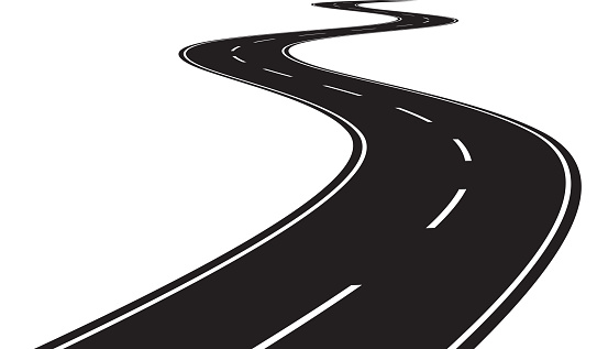 Curve Road Stock Illustration - Download Image Now - iStock