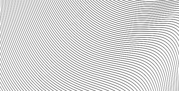 Curve wavy lines background or stripes grayscale abstract backdrop vector illustration, creative modern graphic design for flow energy banner, brochure cover or stylish flyer image