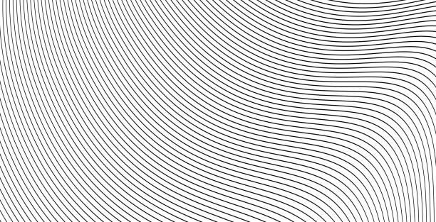 stockillustraties, clipart, cartoons en iconen met curve golvende lijnen achtergrond of strepen grijswaarden abstracte achtergrond vector illustratie, creatieve moderne grafisch ontwerp voor stroom energie banner, brochure cover of stijlvolle flyer afbeelding - pattern
