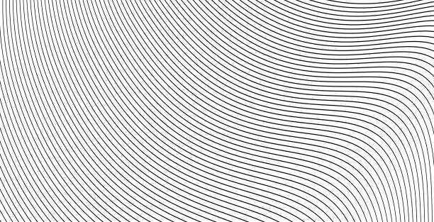 Curve wavy lines background or stripes grayscale abstract backdrop vector illustration, creative modern graphic design for flow energy banner, brochure cover or stylish flyer image Curve wavy lines background or stripes grayscale abstract backdrop vector illustration, creative modern graphic design for flow energy banner, brochure cover or stylish flyer single line stock illustrations