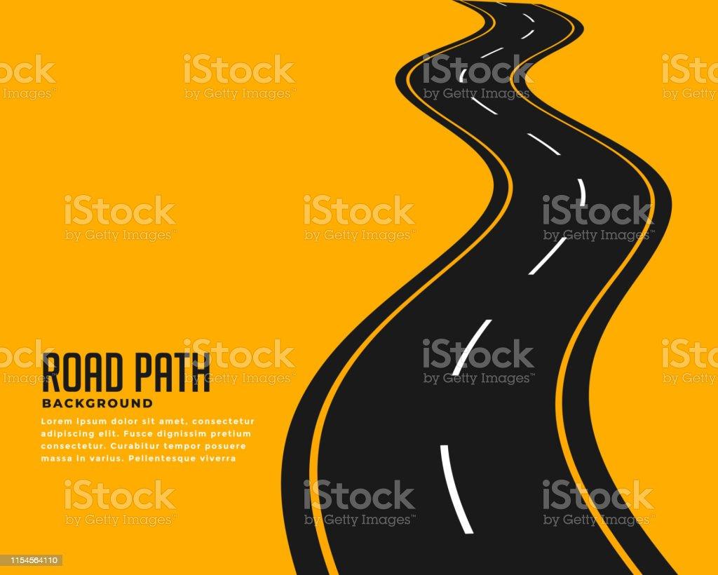 curve winding roadway background design - arte vettoriale royalty-free di Ampio