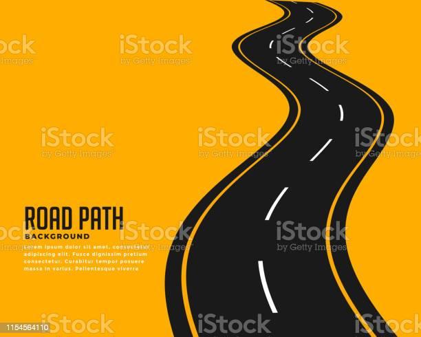 Curve Winding Roadway Background Design - Immagini vettoriali stock e altre immagini di Ampio