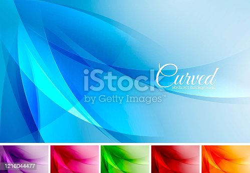 istock Curved abstract background 1216044477