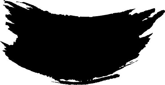 curved black brush