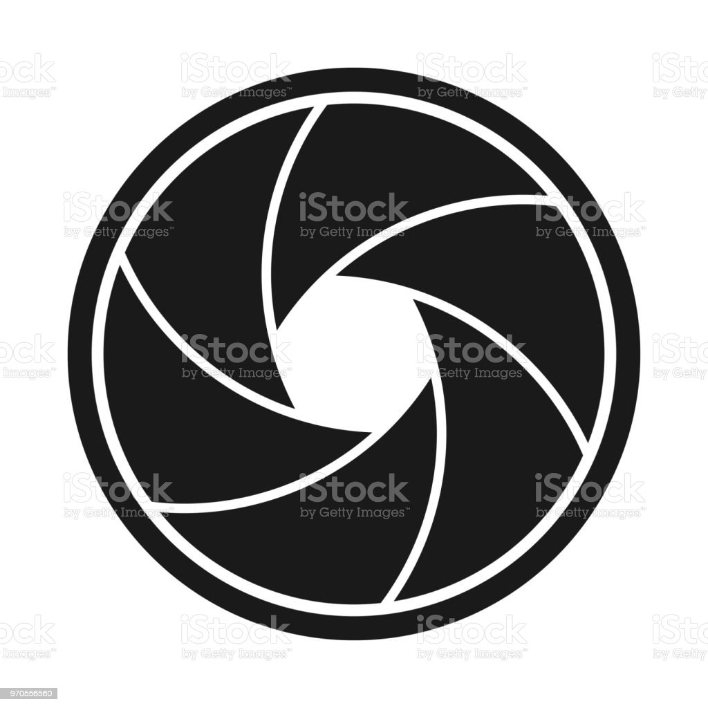 Curved Camera Aperture vector art illustration