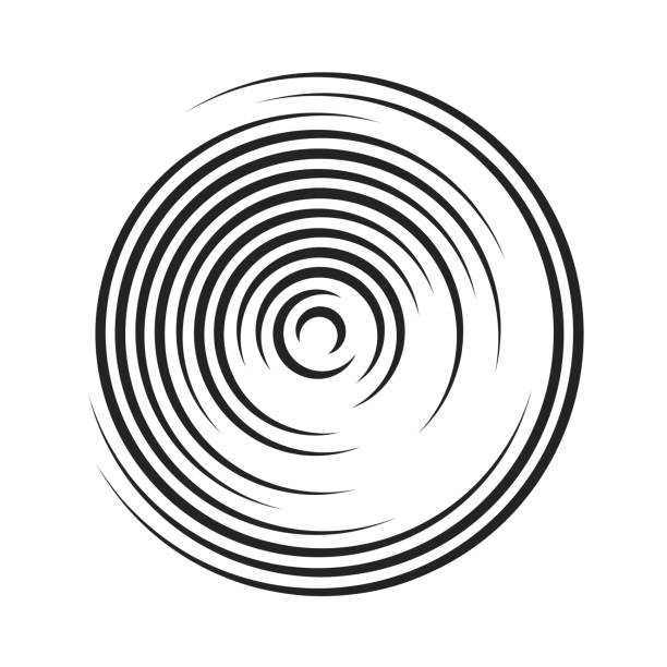 curved lines that makes a round shape - rytm stock illustrations
