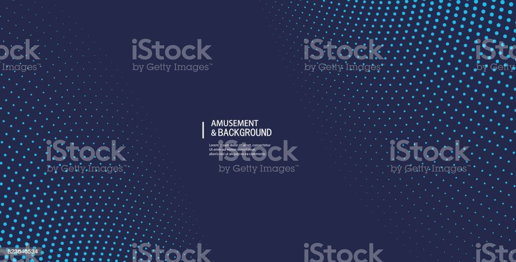 Fond incurvé de particules - Illustration vectorielle