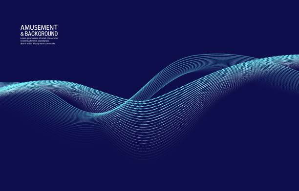 curved particle backgrounds intertwined - abstract stock illustrations