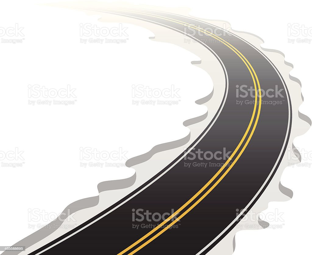 Curved Road royalty-free stock vector art