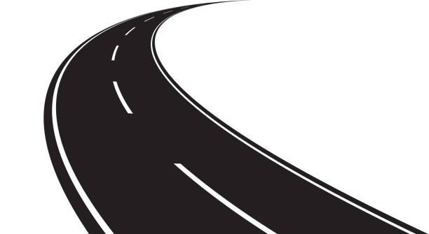 ilustrações de stock, clip art, desenhos animados e ícones de curved road - driveway, no people