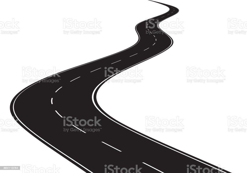 Curved road royalty-free curved road stock vector art & more images of abstract