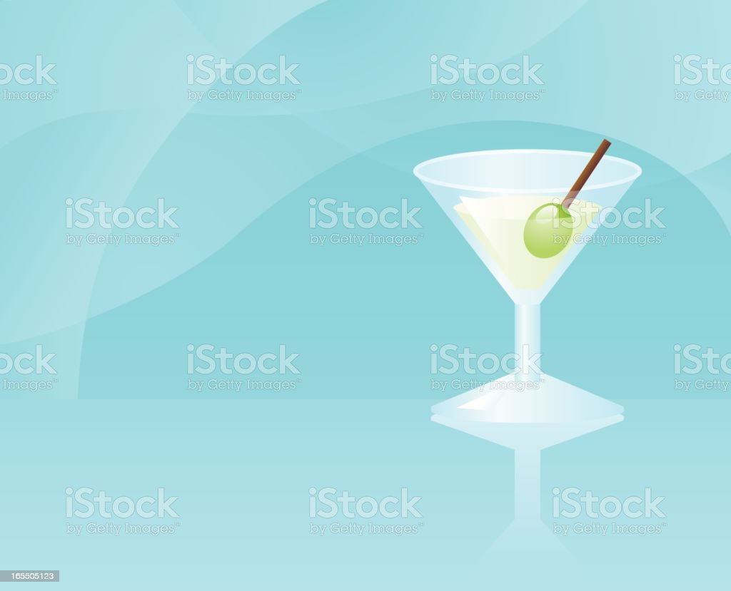 curved space: martini royalty-free stock vector art