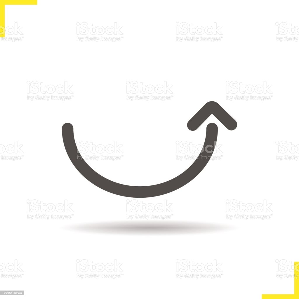 889467b55bbc7f Courbé vers le haut flèche courbé vers le haut flèche – cliparts vectoriels  et plus d