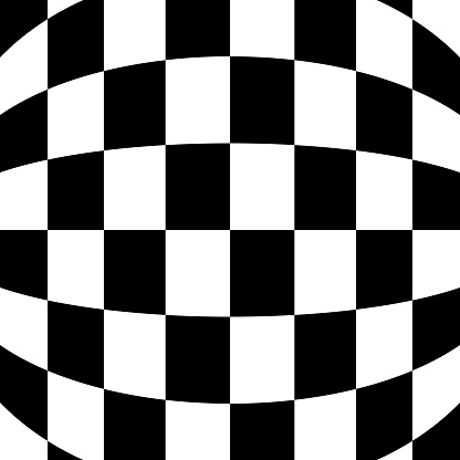 Curving Checkerboard Background