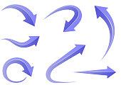 bending arrows design set