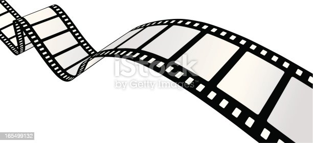 Curvy 35mm movie filmstrip. Easily editable frames. You may also like: