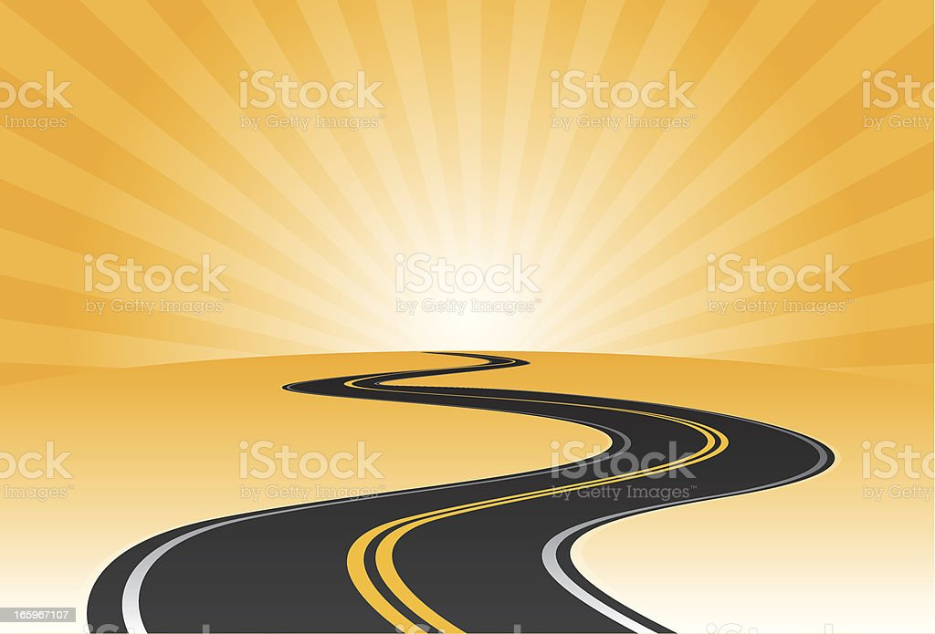 Curvy road disappearing behind the horizon royalty-free curvy road disappearing behind the horizon stock vector art & more images of backgrounds