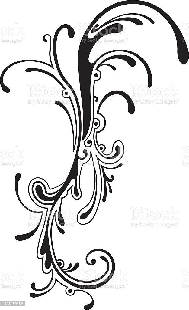 Curvy shape royalty-free stock vector art