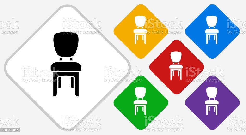Kissen, Esszimmer Stuhl Farbe Diamant Vektor Icon Lizenzfreies Kissen  Esszimmer Stuhl Farbe Diamant Vektor Icon
