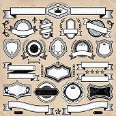 Custom Blank Badge Black & White Banners, Badges, and Symbols