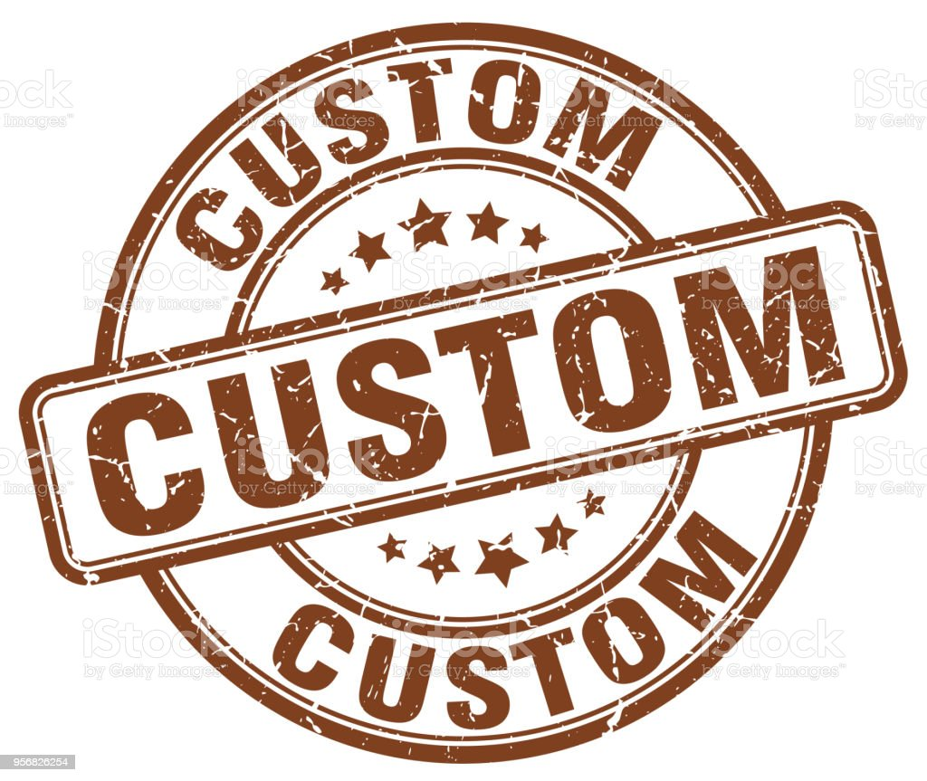 Custom Brown Grunge Round Vintage Rubber Stamp Royalty Free