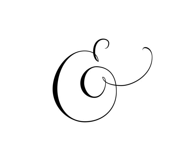 Custom decorative ampersand isolated on white. Great for wedding invitations, cards, banners, photo overlays. vector art illustration