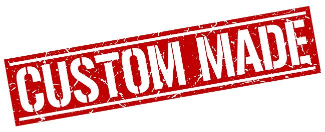 Custom Made Quadratische Grungestempel Stock Vektor Art und
