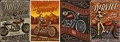 istock Custom motorcycle vintage posters 1313467359
