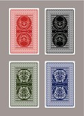 Skulls and Lions poker cards. EPS 10 format with transparencies.