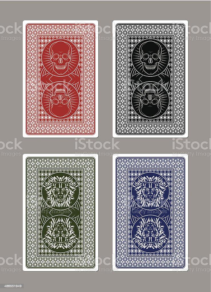 Custom Playing Card Designs vector art illustration